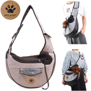 Unim Pet Carrier Shoulder Bag Hands Free Collapsible Sling Backpack
