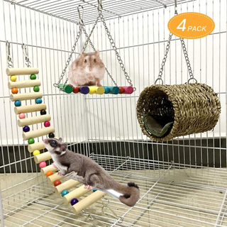 MQUPIN Pet Hammock Hamster Hanging Toys Pet Cage